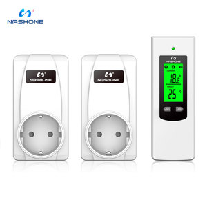 Image 2 - Nashone Thermostat Digitale Temperatur Control Wireless Thermostat 220V LCD Display Temperatur Controller buchse mit thermostat