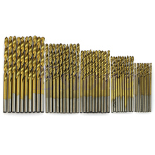 цена на 50Pcs Titanium Coated HSS High Speed Steel Drill Bit Set Tool 1/1.5/2/2.5/3mm Drop Ship