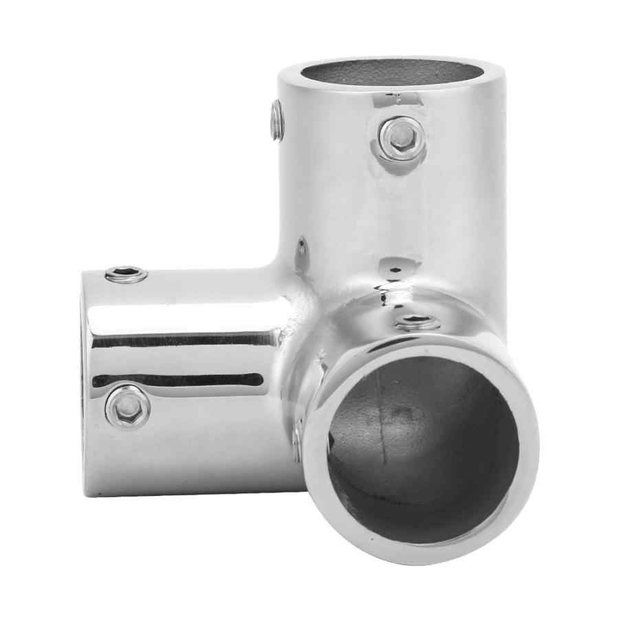 3 Way Corner Elbow 316 Stainless Steel Pipe Connecting Fittings Hardware Accessories 22mm