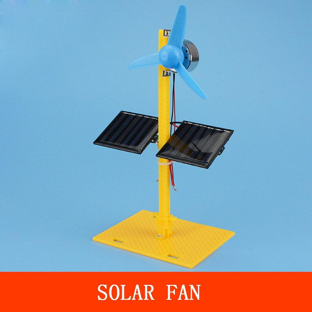 Diy Solar Power Fan Model Building Material Kit Generator Dc Motor Science Experiment Discovery Creative Educational Toys