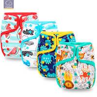 Elinfant mädchen & jungen tuch baby windel abdeckung pul wasserdicht einstellbare resuable fit 8-35 £ beliebte baby tuch windel abdeckung