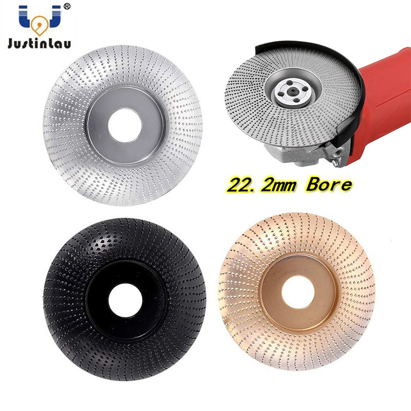108mm/4.25inch Tungsten Carbide Wood Shaping Disc Carving Disc 22.2mm Bore Sanding Grinder Wheel For 115/125 Angle Grinder