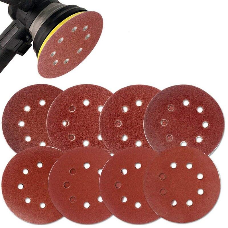 120 /& 240 Grit 8 Hole Hook-And-Loop Sandpaper 80 Makita 30 Piece For Wood Metal /& Plastic Multi Grit Sanding Disc Set For 5 Inch Random Orbit Sanders
