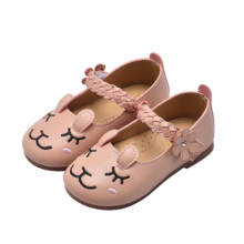 Baby Kids Shoes Girls Princess Shoes Cartoon Rabbit Leather Shoes Children Soft Casual Shoe Toddler 1-8 Yeard SM057