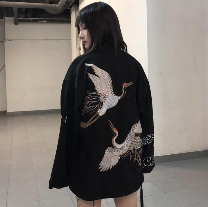 Woman Coat Fashion Japanese Summer Kimono Cardigan Kimono Yukata Thin Loose Travel Outer Garment