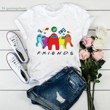 Футболка с надписью «friends and new game» женские милые летние