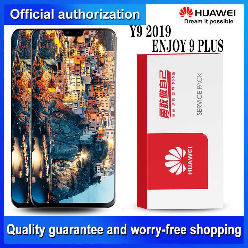 Ban Đầu 6.5 ''10-Cảm Ứng Màn Hình Hiển Thị LCD Với Khung Cho Huawei Y9 2019 Màn Hình Cảm Ứng LCD Bộ Số Hóa JKM-LX1 JKM-LX2 JKM-LX3