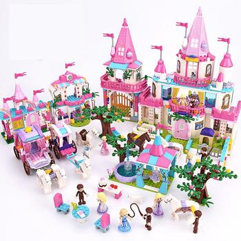 Princess/Prince Series Enchanted Castle Palace Models Building Blocks Royal Carriage Model Compatible Girl Toys Gifts prince castle 65 058s relay