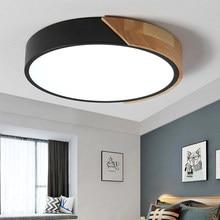Plafonnier LED ultramince en bois avec télécommande, éclairage d'intérieur, luminaire de plafond, idéal pour une chambre à coucher, un salon, une cuisine, un couloir ou un balcon
