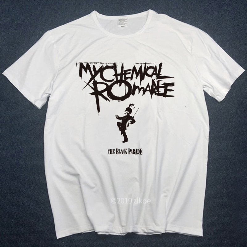 Punk Shirt My Chemical Romance T-shirts Men Tops 2018 Summer White Tops Male Funny T-shirts Hot Sale Hiphop Streetwear Plus Size