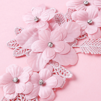 New style 3D Flower Lace Collar DIY Embroidery Applique Neckline Sewing Fabric Decoration Clothing Accessories Scrapbooking