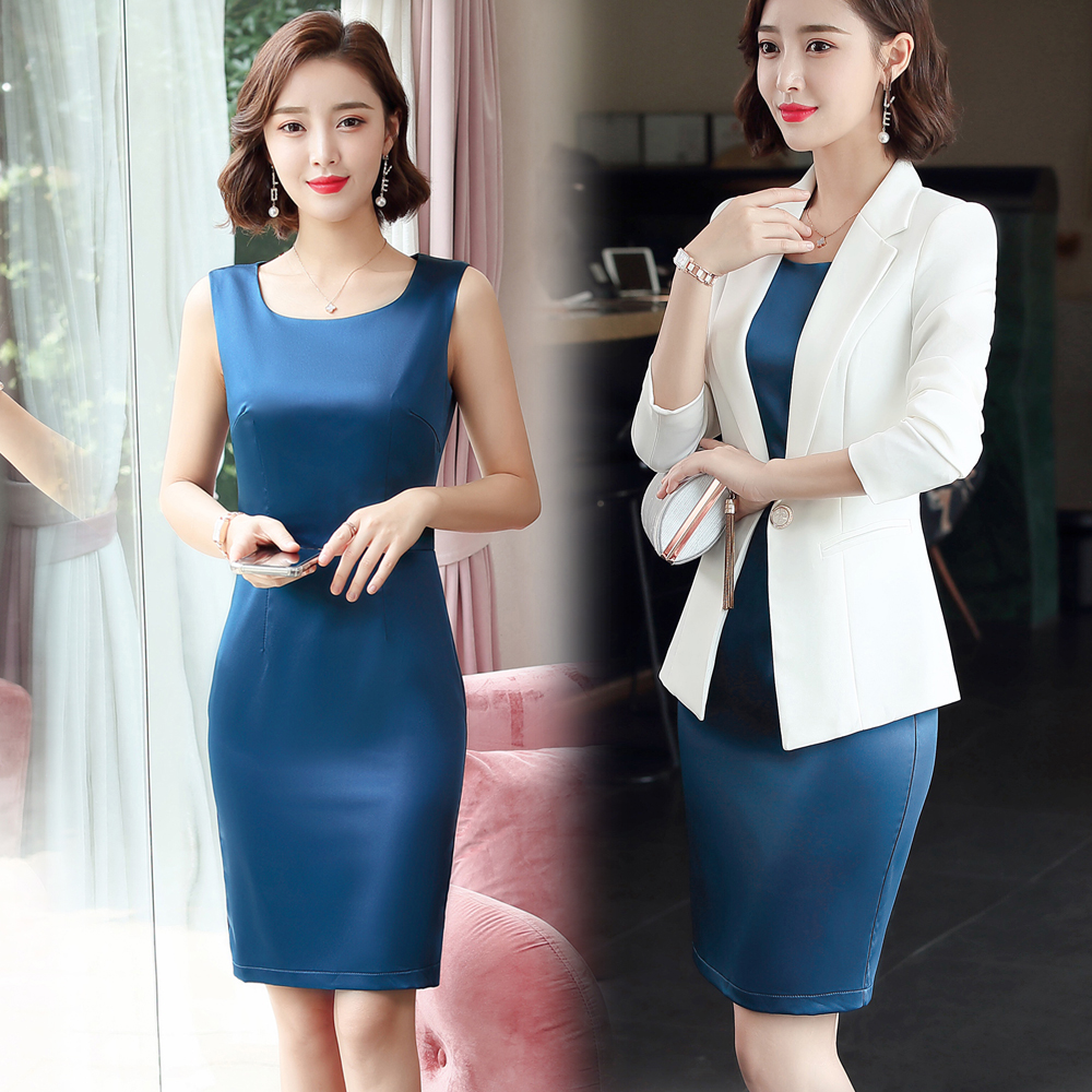 Women's Office Clothes Dresses Front Office Dresses Women's Office Clothes Two-piece Dresses Long Sleeves Autumn And Winter