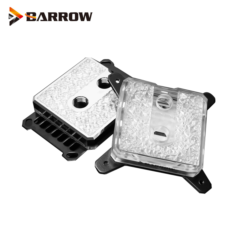 Barrow bloque de agua de la CPU INTEL Socket LGA 115x1150x1151, 1155 procesador 1156 refrigerante dispositivo ARGB latón acrílico LTIFH-04 Luz led BA15S 1156 BAY15D 1157 BA15D 6v 12v 24v 36v 48v 1142 W S25 canbus, luces de freno de bombilla trasera de señal de giro automático