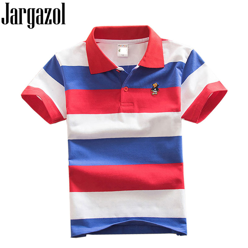 Jargazol Kids Solid Polo Shirt Toddler Boy Tops Summer Boys Short Sleeve Shirt Baby Children Costume Camisa Aports Polo Outfits