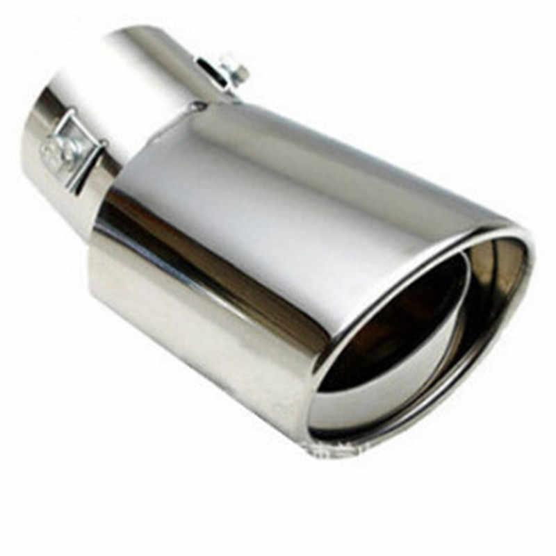 ステンレス鋼管クロームトリム修正された車のリアテール喉ライナーアクセサリーユニバーサル車の自動車排気マフラーヒント