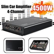 AMPLIFICADOR DE POTENCIA DE Audio estéreo para coche, 12V, 4500W, 4 canales, Clase A/B, 3D, estéreo, envolvente, Subwoofer, alta potencia