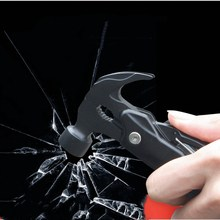 цена на Multi-function Folding Metal Rescue Hammer Portable Vehicle Emergency Safety Hammer Window Hammer Claw Hammer