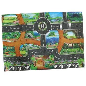 Dinosaur World Traffic Play Mat Rug Carpet Car Vehicles Toy Infant Kid Crawl