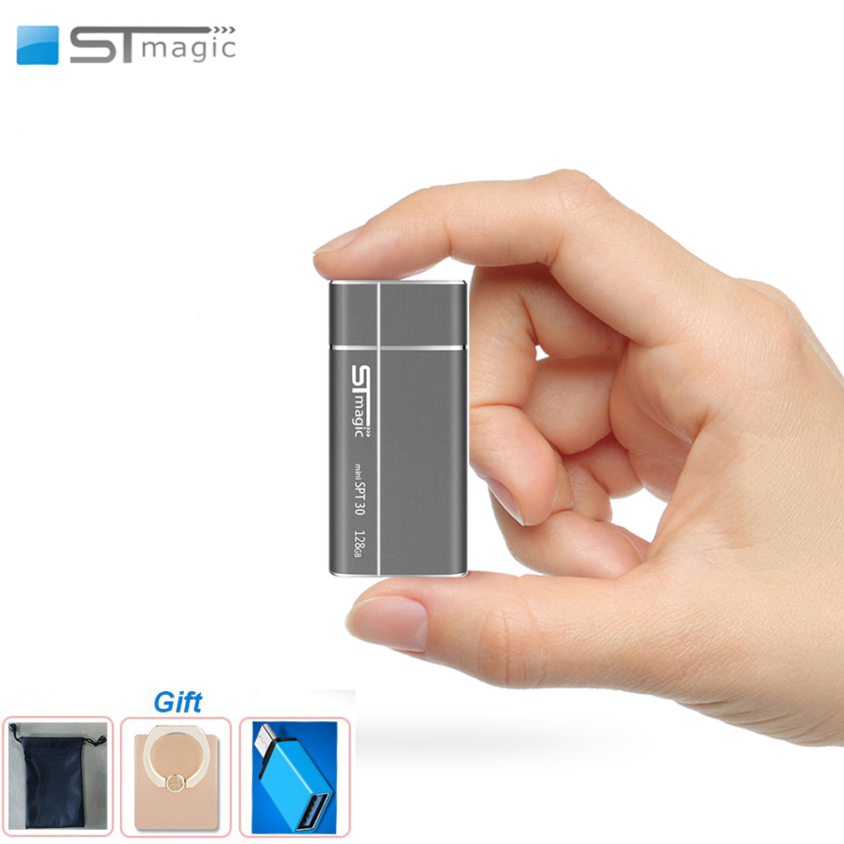 Stmagic mini External SSD Metal portable Solid State Drive 128GB 256GB 512GB USB3 1 Type-c Hard drive for PC Smartphone