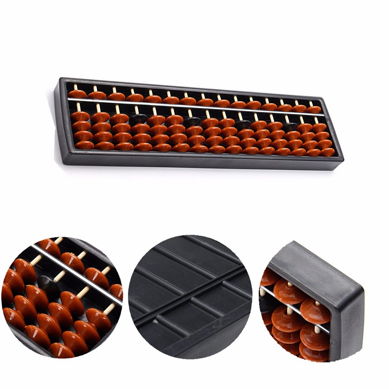 JIMITU 13/15 Rods Abacus Beads Kid School Learning Tool Math Business Chinese Traditional Abacus Soroban Educational Math Toys