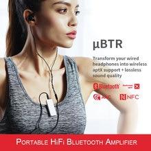 Fiio ubtr bluertooth receptor fone de ouvido amp com controle de volume local independente embutido microfone suporte aptx nfc