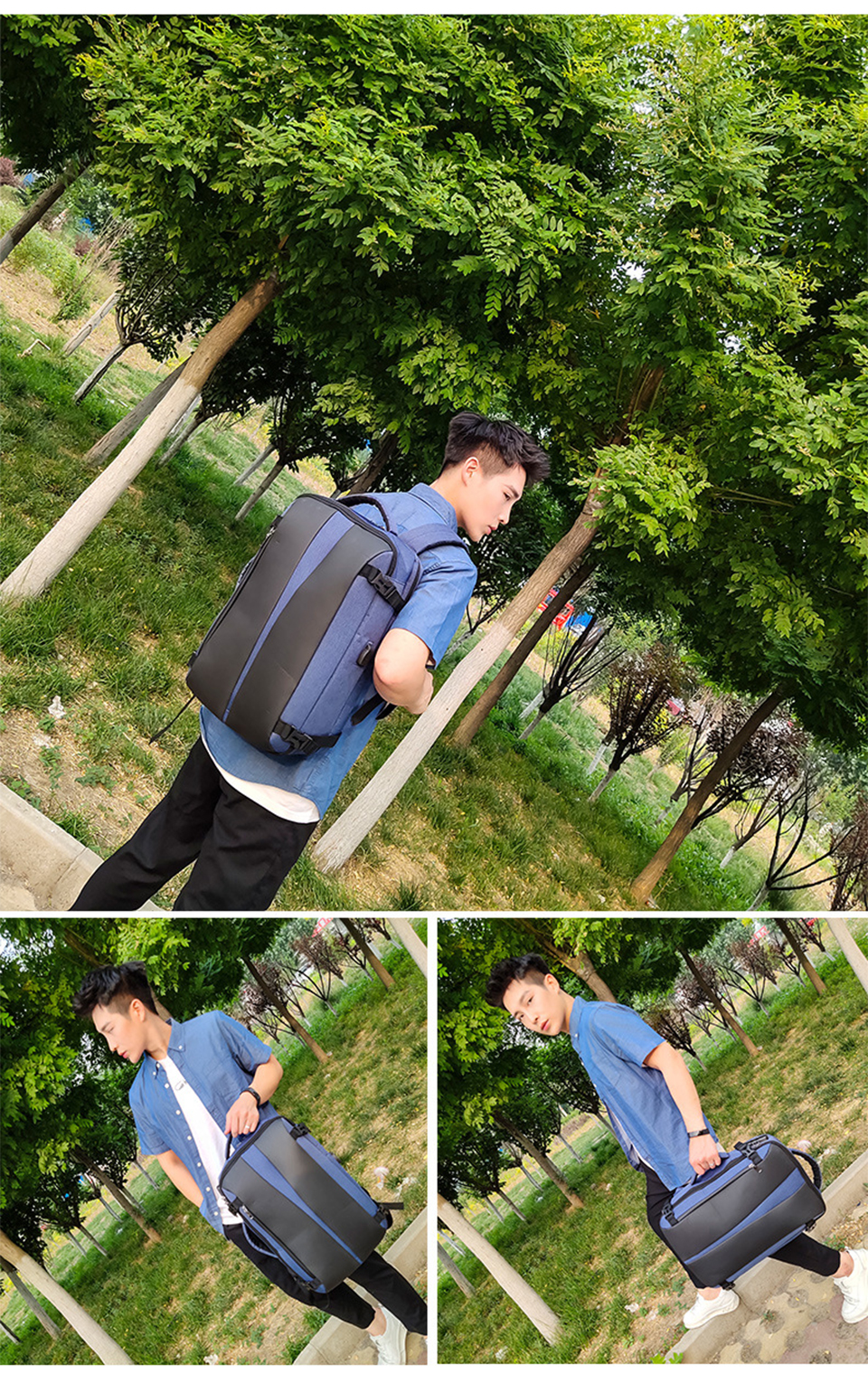 Men Backpack Anti Theft Travel Bagpack Laptop 15.6 Inch Notebook Waterproof Bags USB Charging Male Business Fashion Unisex Bag (10)