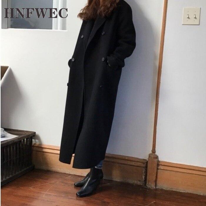 Женское шерстяное пальто, двубортное повседневное модное женское Шерстяное Пальто, новинка зимы 2019, женская одежда Y633