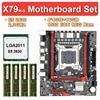JingSha X79m-s di serie della scheda madre con Xeon LGA2011 E5 2630 4x4GB = 16GB 1333MHz DDR3 ECC REG memoria M-ATX USB3.0 SATA3.0 NVME