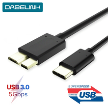 Micro B USB C 3,0 Cable de disco duro externo de 5Gbps, Cable HDD para Samsung S5 note 3 Toshiba WD Seagate HDD datos USB 3,1 Cables(China)