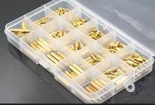 цена на 190 pcs Brass Screw Standoffs M3 PCB Male x Female Long Screw Bolt Motherboard Standoff Threaded Screw Nut Assortment Set