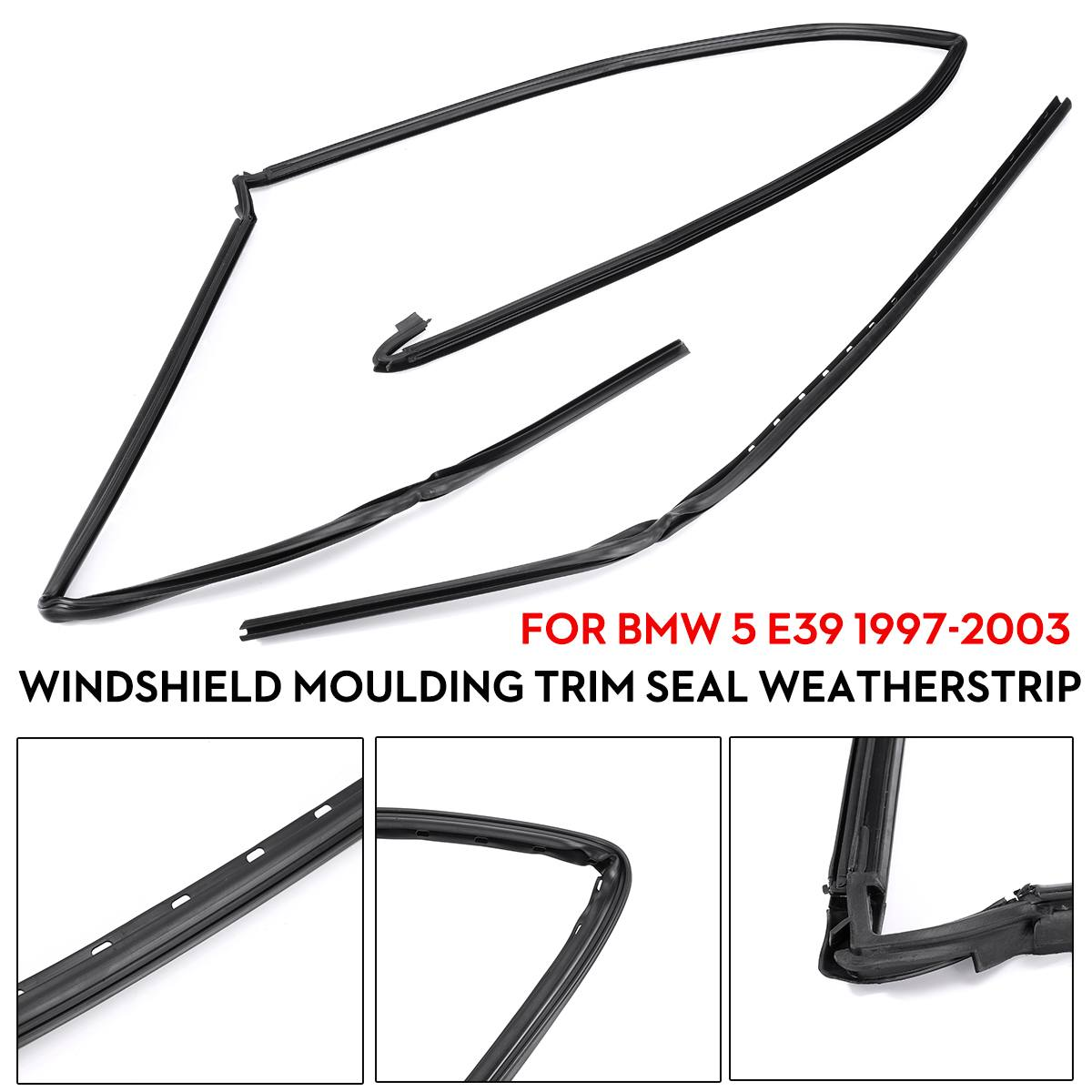Hot New Car Wiper Windshield Panel Moulding Seal Strip Front Glass For BMW 5 E39 1997-2003