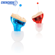 Premium Quality Hearing Aid Invisible In Ear Sound Amplifier Red & Blue Aids Care