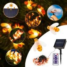 50 светодиодный солнечный Мощность милые Мёд пчелы строка светильник