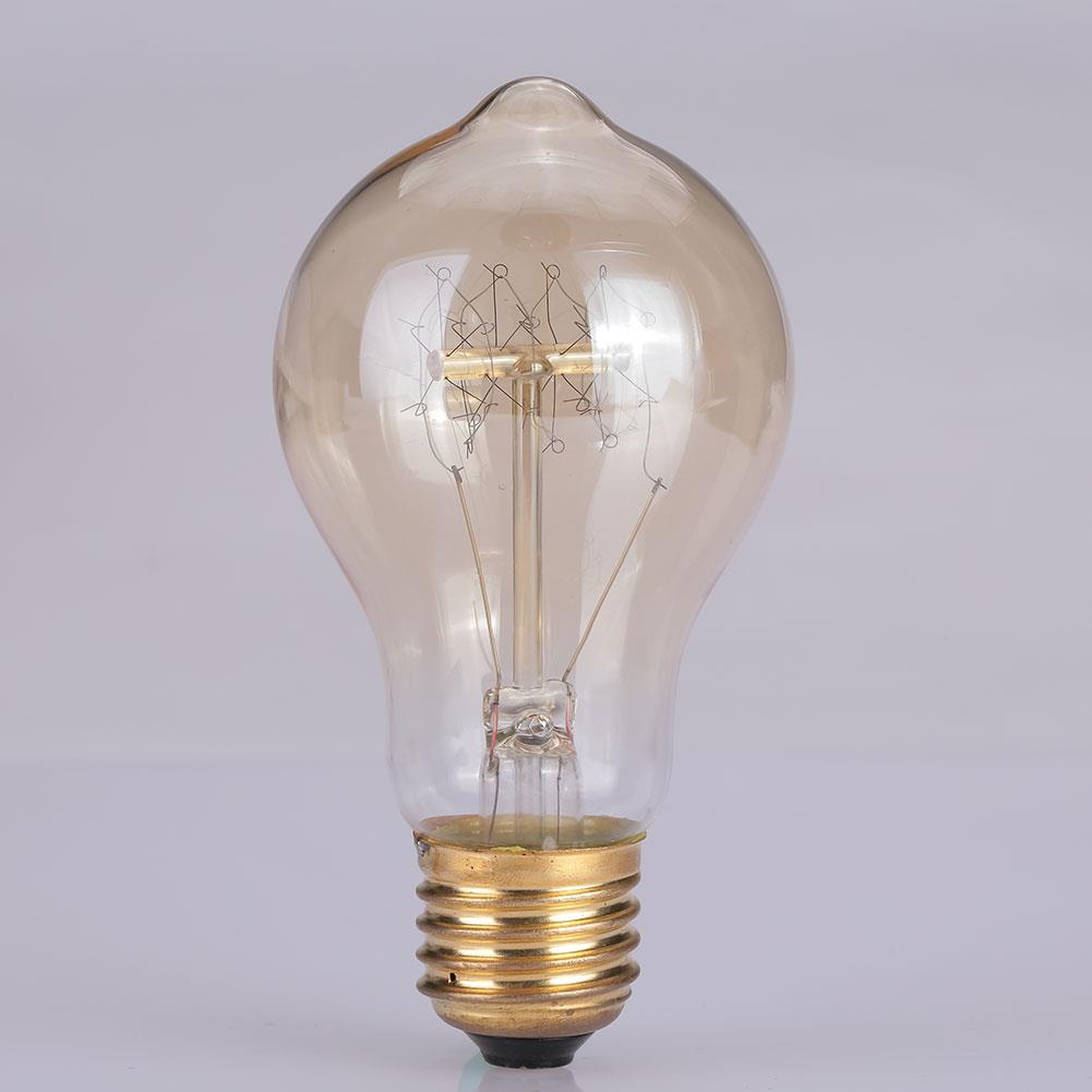 Dimmable Vintage A19 E26 Edison Incandescent Bulb Filament Lamp Light Household