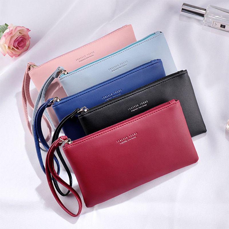 Women Wallet Fashion Soft PU Zipper Ladies Long Purse 2019 Business Fashion Brand Solid Color Women Purse
