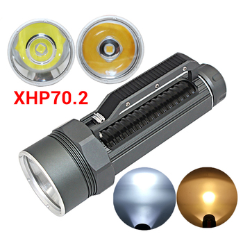 Portable XHP70.2 LED Diving Flashlight Torch 32650 Tactical Underwater 100M Waterproof High Quality Scuba XHP70 Dive Lamp Light