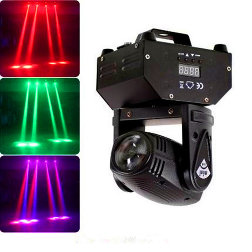 10W LED Beam Light/RGBW Mini DMX Beam Moving Head Stage Lights Professional For Party Disco DJ Spot Lighting Linear Beam Effect