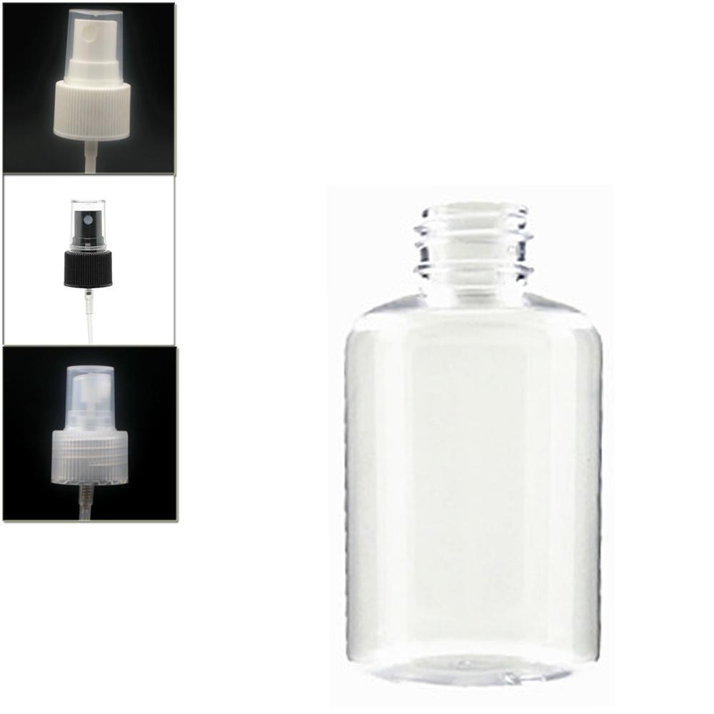 120ml Empty Boston Round Plastic Bottle , Clear Pet Bottle With Black/white/transparent Fine Mist,sprayer Bottle