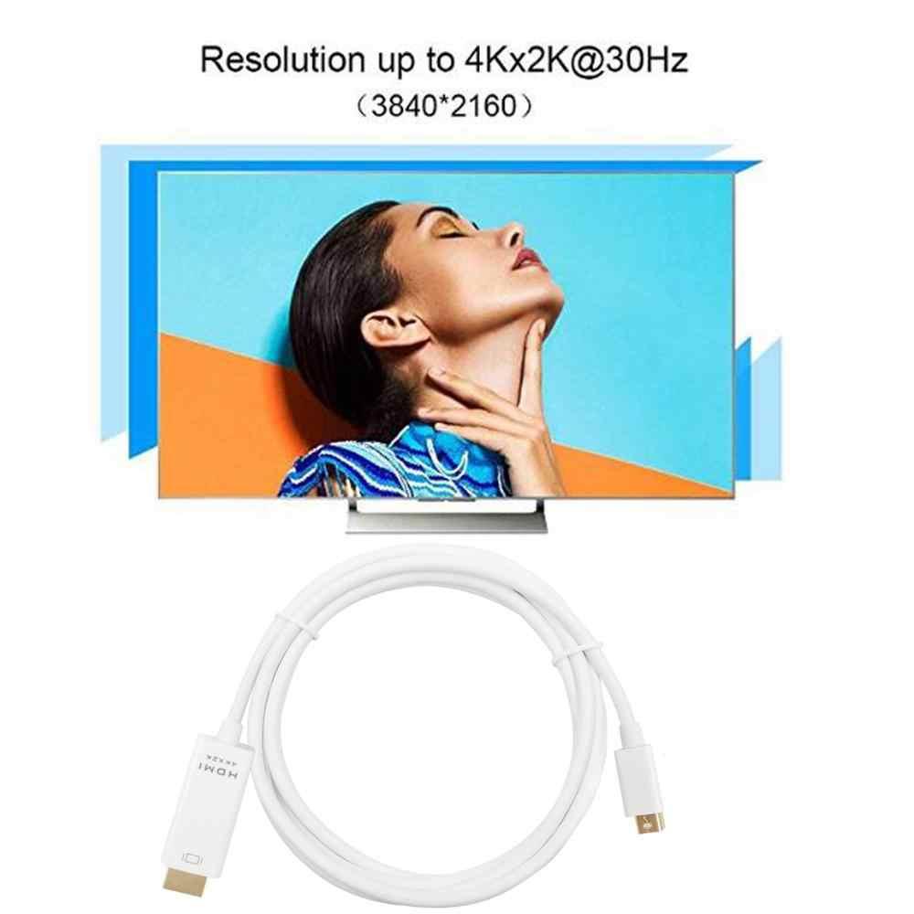 4K Cáp Chuyển Đổi Mini DisplayPort To HDMI Adapter Cáp Mini DP Thunderbolt 2 HDMI Cho Macbook Air 13 Bề Mặt Pro 4 Thunderbolt