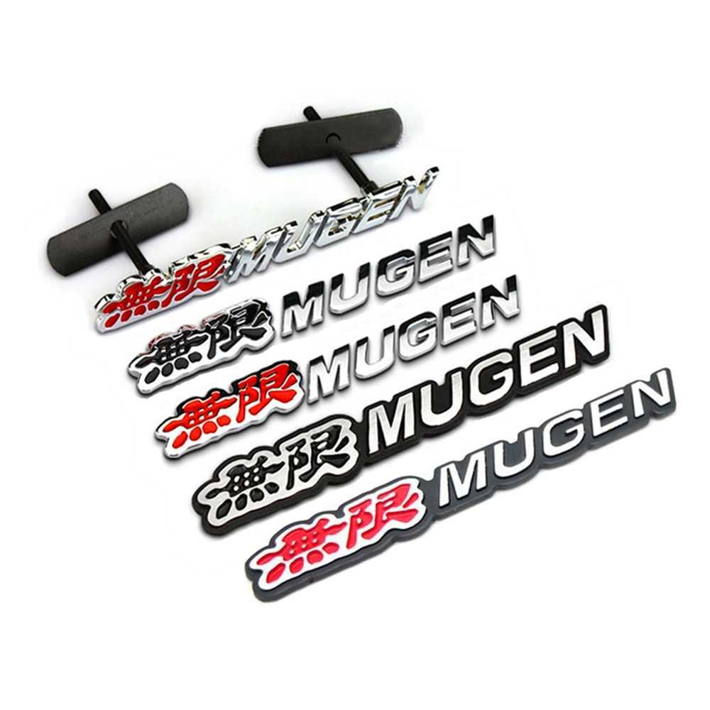 Cayears 1 個 Mugen 電源 Js Moduro 金属合金ステッカーエンブレムグリルバッジフィット CRV シビック車体トランク蓋