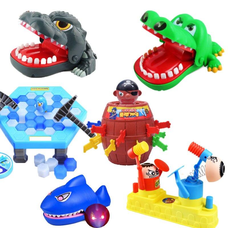ילדים למבוגרים צעצועים נושכים אצבע תנין הורה אינטראקטיביים משפחה בדיחה שולחני מסיבת משחקים לילדים מתנה