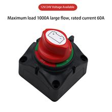 Car SUV RV Marine Boat Battery Isolator Disconnect Rotary Switch Cut On/Off Large Current Battery Power Switch(China)