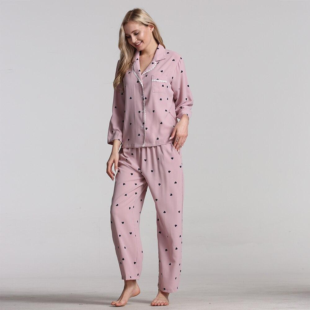 Pajamas For Women Cotton Pijamas Women 2019 New Womens Pajamas Sleepwear Long-sleeved Pajama Set Women Two-piece Pijama