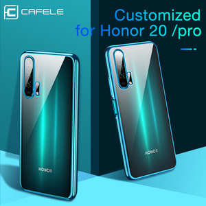 Cafele New Plating Case For Huawei Honor 20 20pro Soft TPU Phone Case Ultra Thin Transparent Shining Cover Cases For Honor 20 pr