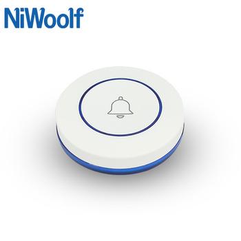 433MHz bezprzewodowy przycisk dzwonka przycisk sos kompatybilny z naszej 433MHz domowy system przeciwwłamaniowy tanie i dobre opinie NiWoolf CN (pochodzenie) JA-06 Doorbell button (Need receiver support it) SOS button White