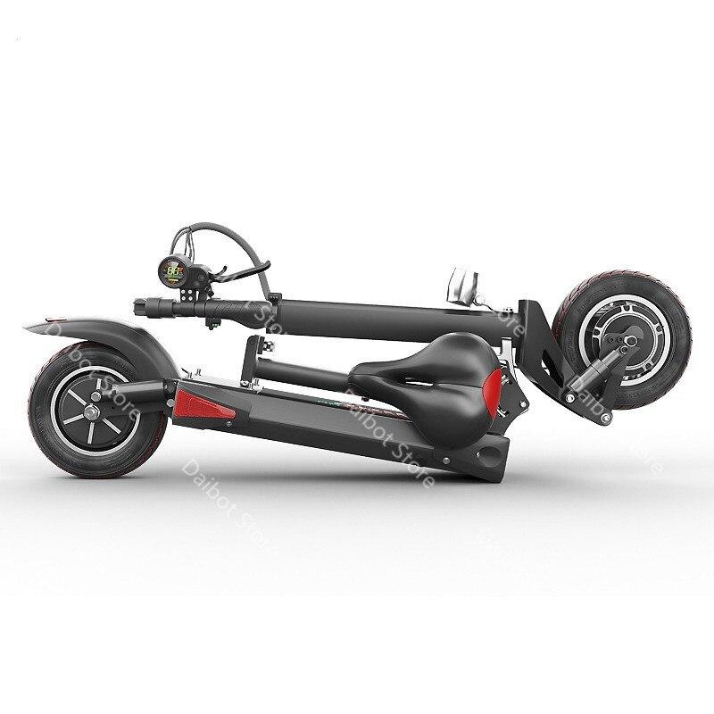 Doppel Stick Elektrische Skateboard Roller Falten Zwei Räder Elektro scooter 10 ''Leistungsstarke Elektrische Roller 1200W 48V 50 KM/H - 4