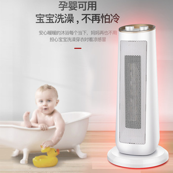 Portable Electric Heater 2000W 220V 2Gear Speed Electric Fan Heater Double PTC Heating/Tip-Over Protection Warm Machine
