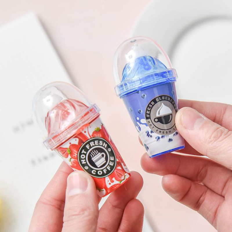 1 Pcs Kawaii Mini Candy Color Ice Cream Milk Tea Cup Correction Tapes Corrector Stationery Office School Supplies Gifts