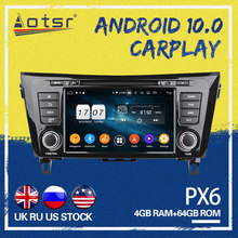 AOTSR Android 10,0 PX6 para Nissan X-Trail xtrail X T 2014-2018 4 + 64GB 2 DIN GPS para coche de navegación auto radio Multimedia player