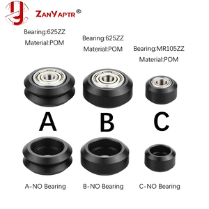 10pcs CNC Openbuilds Plastic wheel POM with 625zz MR105zz Idler Pulley Gear Passive Round Wheel Perlin Wheel V type for V-Slot(China)